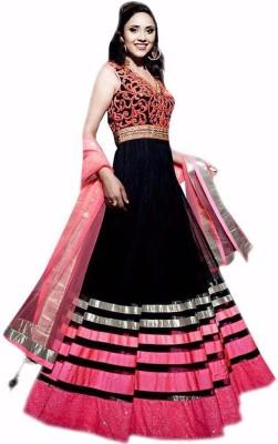 Santosafashion Embriodered Bollywood Net Sari