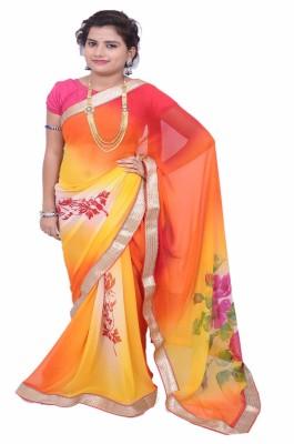 Lado Fashion Square Self Design Bollywood Georgette Sari