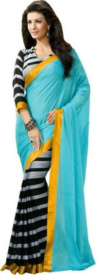 Saiyaara Fashion Plain, Printed Daily Wear Georgette Sari