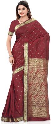 Shama Solid Fashion Banarasi Silk Sari