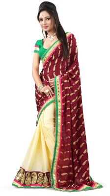 Snreks Collection Embriodered Fashion Jacquard Sari