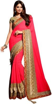 SAHAJ Embriodered Fashion Satin Sari