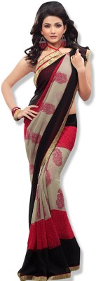 Today Deal Embriodered Bollywood Georgette Sari