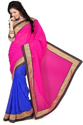 Omkarcreation Solid Bollywood Georgette Sari