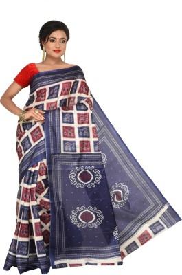 Keya Sarees Checkered, Printed Ikkat Art Silk Sari