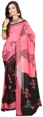 K3 Solid Bollywood Georgette Sari