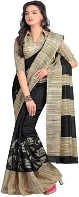 Jalak Design Printed Bhagalpuri Silk Sari