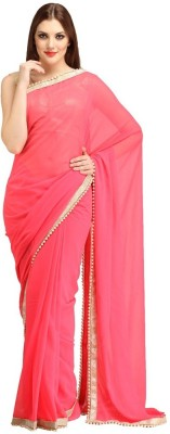 Shoppersstreet Embellished Fashion Georgette Sari