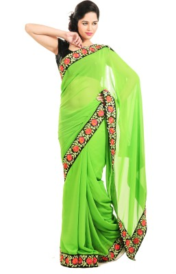 Aasia Couture Embriodered Daily Wear Georgette Sari