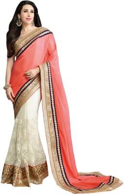 Isha Enterprise Embriodered Fashion Handloom Chiffon Sari