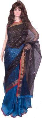 Tanjinas Solid, Plain Muslin Handloom Muslin Sari