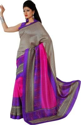 365 Labels Striped Mangalagiri Art Silk Sari