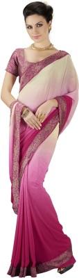 Roop Kashish Solid Fashion Georgette Sari