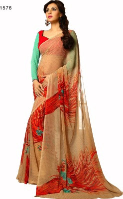 Hi-Choice Printed Fashion Chiffon Sari