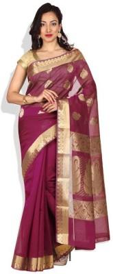 Pratamika Floral Print Fashion Handloom Silk Cotton Blend Sari