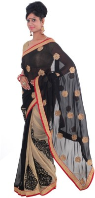 Vikrant Collections Embriodered Bollywood Georgette Sari