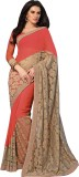 Deshna Printed Fashion Net, Chiffon Sari