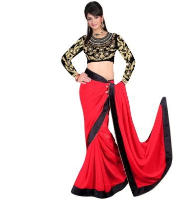 Temptingg Fashions Embriodered Fashion Chiffon Sari