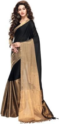 Beautara Plain Fashion Handloom Cotton Sari