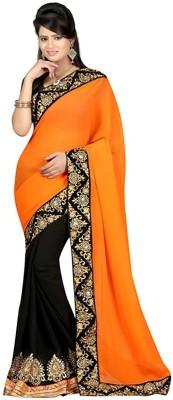 MAHESH TRADERS Embriodered Bollywood Chiffon Sari