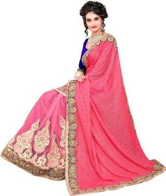 Hari Krishna sarees Self Design Fashion Lycra, Net Sari