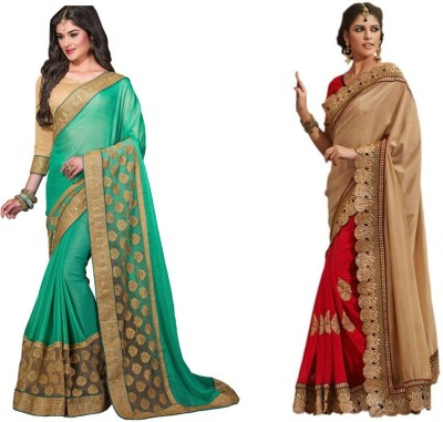Red Carpet Embriodered Bollywood Net, Georgette, Chiffon Sari