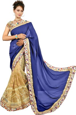 SADHANA IMPEX Embriodered Fashion Net Sari
