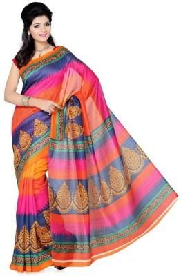 Nanda Silk Mills Printed Fashion Raw Silk Sari