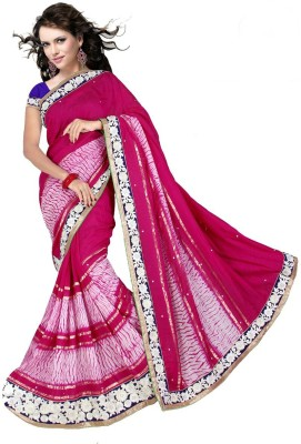 Shivam Fashions Embriodered Bollywood Cotton Linen Blend Sari