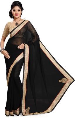 Deepika Couture Solid Bollywood Chiffon Sari