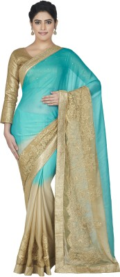 Oomph! Embellished, Embriodered Bollywood Chiffon Sari