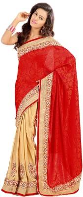 Stylo Designer Self Design Fashion Satin Sari