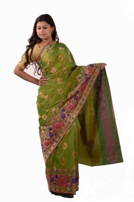 Banarasi Chhaya Polka Print, Floral Print, Geometric Print, Self Design Banarasi Handloom Art Silk, Banarasi Silk Sari
