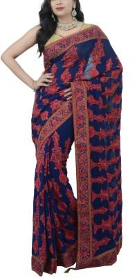 Estri Self Design Fashion Handloom Georgette Sari