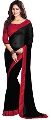 Bansri Plain Bollywood Georgette Sari