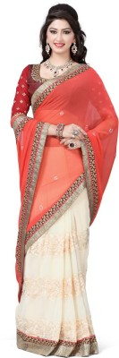 Aditya Creation Embriodered Fashion Chiffon Sari