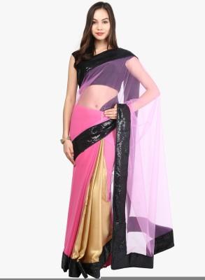 Lime Embellished Fashion Handloom Georgette Sari