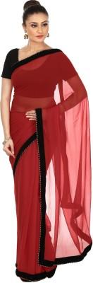 Kajal New Collection Solid Bollywood Georgette, Velvet Sari