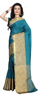 Heavendeal Woven Banarasi Silk Cotton Blend Sari