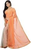 FastColors Printed Bollywood Chiffon Sar...