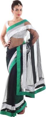 Aumkar Solid Fashion Net Sari
