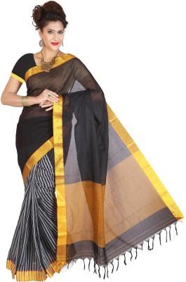 Right Shape Striped Bollywood Handloom Cotton Sari