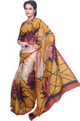 Tanjinas Floral Print Fashion Tussar Silk Sari