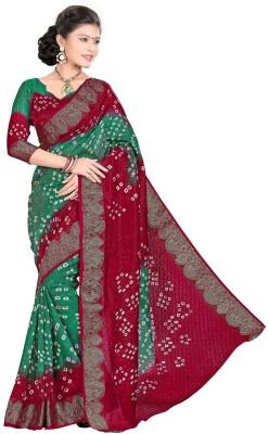 Clothvilla Self Design Bandhani Art Silk Sari