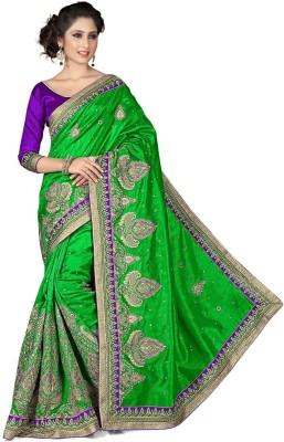 Chhabra Bros Embriodered Manipuri Handloom Silk Sari
