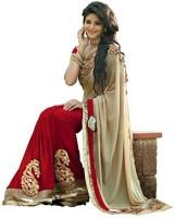 Bollywood Designer Self Design Bollywood Georgette Sari(Red)