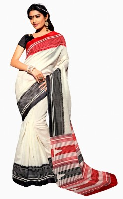 Sonal Saree Plain Fashion Printed Silk Sari