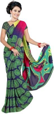Garg Fashion Floral Print Daily Wear Georgette Sari