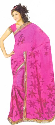 Samhitha Collections Printed Daily Wear Georgette Sari