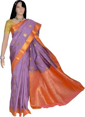 Kanchipuram Silk Self Design Kanjivaram Handloom Silk Sari